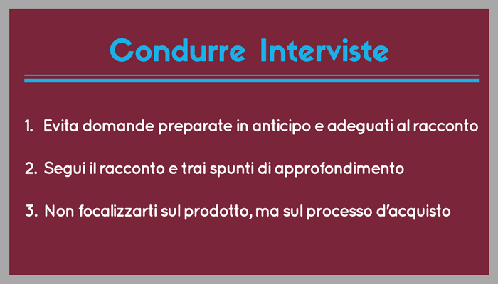 Condurre Interviste Buyer Personas