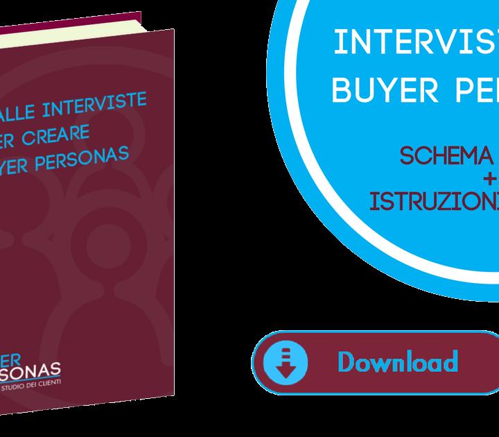 Schema guida Interviste Buyer Personas